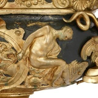 Louis XIV style gilt bronze mounted vase