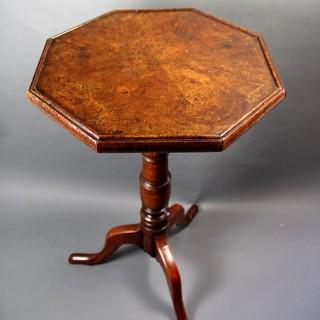 18TH CENTURY OAK TRIPOD TABLE