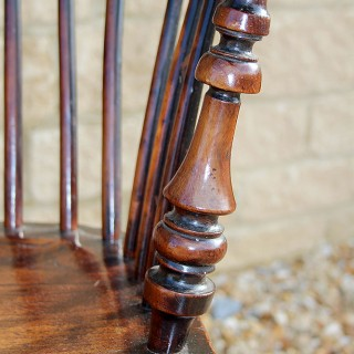 PAIR OF YEW WOOD WINDSOR CHAIRS 1820