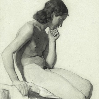 A Fine 19th Century Life Drawing