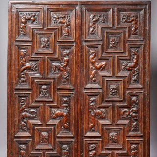 Rare & Impressive Renaissance Carved Panels, Italy, 16th Century