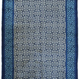 Antique Chinese Ningxia rug