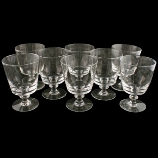 Set of Eight Georgian Style Wine Glasses