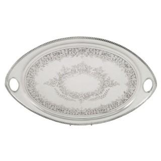 Antique Sterling Silver 20″ Oval Tray – 1901