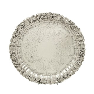 Antique Edwardian Sterling Silver Tray 1904