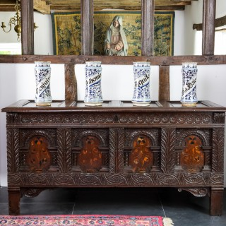 James I inlaid oak chest
