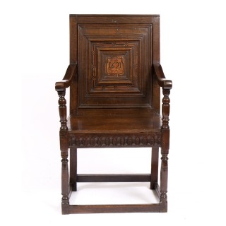 James I joined oak armchair