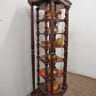 Early Victorian Revolving Whatnot