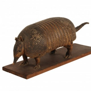 Taxidermy armadillo, early 20th century, South Americ