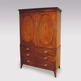 Late 18th Century Mahogany Linen Press
