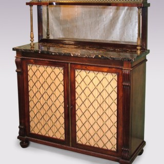 Rosewood Chiffonier Marble Top And Upper Part