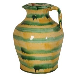 Large glazed ceramic jug, South of France, early 20th century