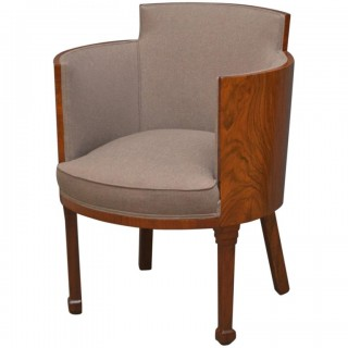 Stylish Art Deco Armchair in Walnut