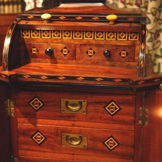 Victorian Mahogany Jewellery Cabinet