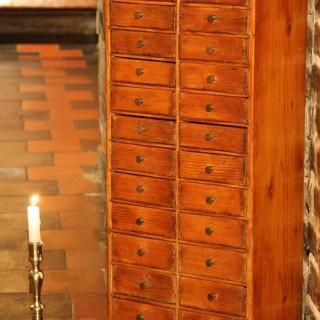 Victorian Pine Collector's / Specimen Cabinet