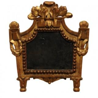 Small giltwood mirror, French Louis XVI, circa 1780