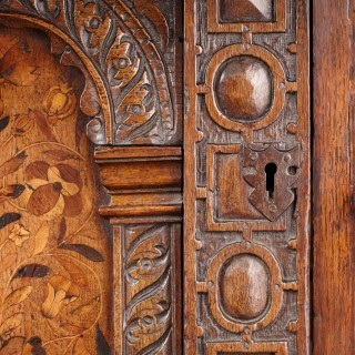 Elizabethan Inlaid Court Cupboard