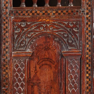 Elizabethan Mural Wall / Glass Cupboard