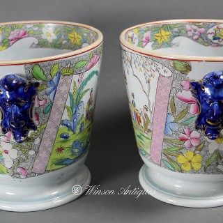 A RARE PAIR OF MASON'S IRONSTONE CHINA WINE COOLERS