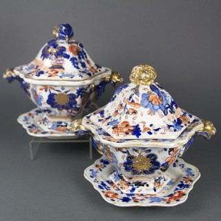 MASON'S IRONSTONE CHINA SAUCE TUREENS
