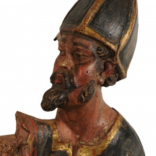 Limewood carving of a soldier of the cross, Spain, circa 1600