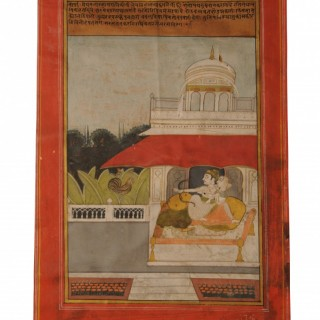 Six Ragamala gouache on paper miniature paintings