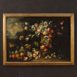 20th Century Oil on Canvas Italian Still Life Painting