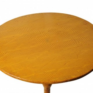 Painted tripod table, Manx