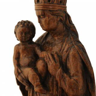 Small walnut carving of the Madonna and Child,  France 16th century