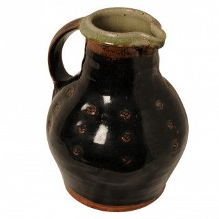 Tenmoku glazed jug / pitcher, Phil Rogers, Welsh born 1951