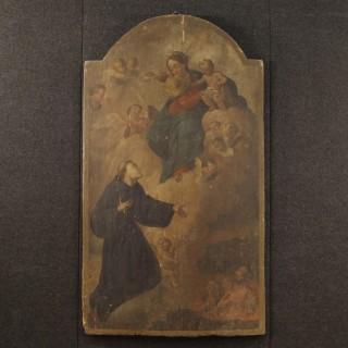 18th Century Oil On Panel Italian Religious Painting, 1780