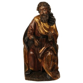 Carved limewood sculpture of a prophet, Swabian, circa 1500