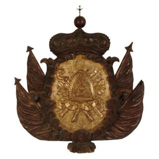 Large  armorial carving, Italian circa 1700