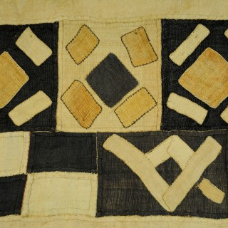 Kuba woven raffia skirt length, late 20th century