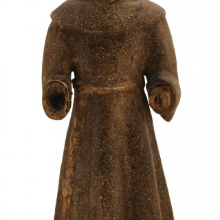Wood carving of St Francis of Assisi, Spanish/Spanish Colonial, Late 18th Century