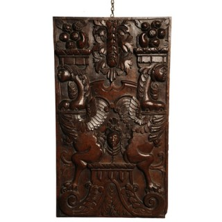 Walnut panel carved in high relief, Burgundy, France circa 1580