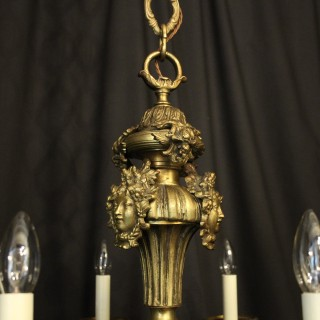 French Bronze 8 Light Antique Chandelier