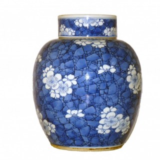 Chinese 18th Century - Kangxi Blue and white Porcelain jar