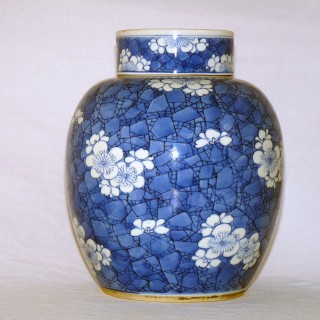 Chinese 18th Century - Kangxi Blue and white Porcelain jar