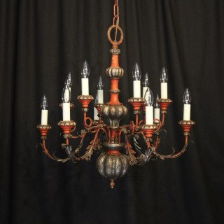 Florentine 12 Light Polychrome Chandelier