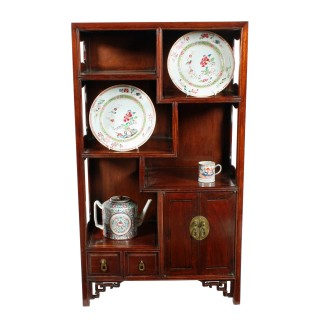 Chinese Rosewood Stage Cabinet