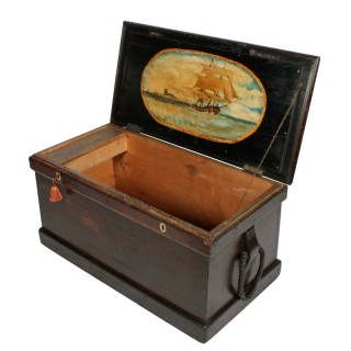 Victorian Painted Ship's Trunk