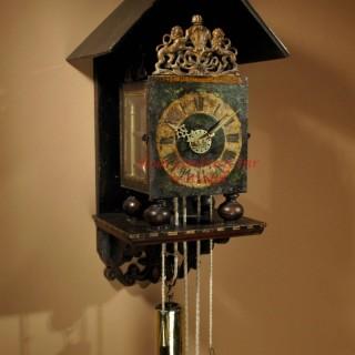 Dutch Wall Clock, Signed:  GOSLINK  RUEMPOL Stoelklok