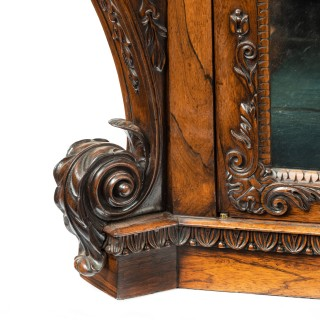 A superb Regency rosewood side/display cabinet