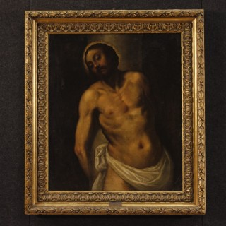 18th Century Oil on Canvas Italian Religious Painting Passion of Christ, 1780