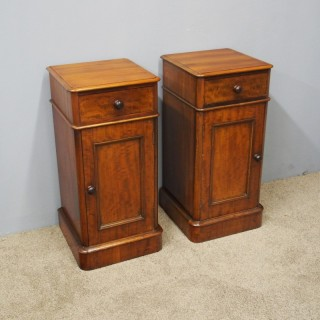 Pair of Neat Sized Mahogany Bedside Cabinets