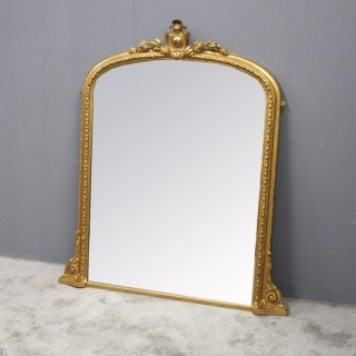 Victorian Carved and Gilded Overmantel Mirror