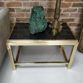 2 WILLY RIZZO FLAMINIA GOLD PLATED SIDE TABLES