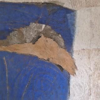 PASCAL BOST GRANDE BLEUE & OCRE / 71 X 62 INCHES / TERRE ET PIGMENTS COLORÉS / 2009