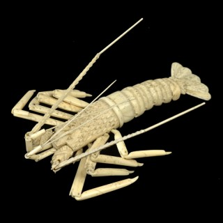 Bone & Ivory articulated Crayfish, Japanese, late 19th century